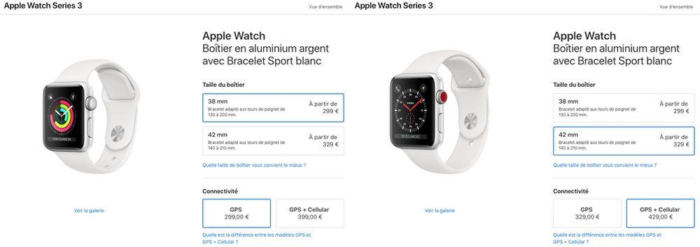 apple watch series 3 prix Les différences entre l'Apple Watch Series3 et Series4