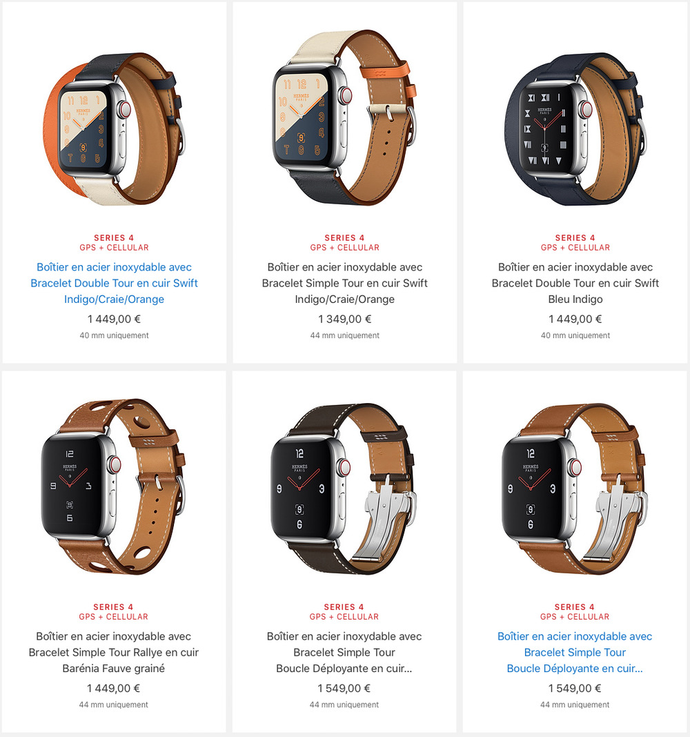 apple watch series 4 hermes prix Les différences entre l'Apple Watch Series 3 et Series 4