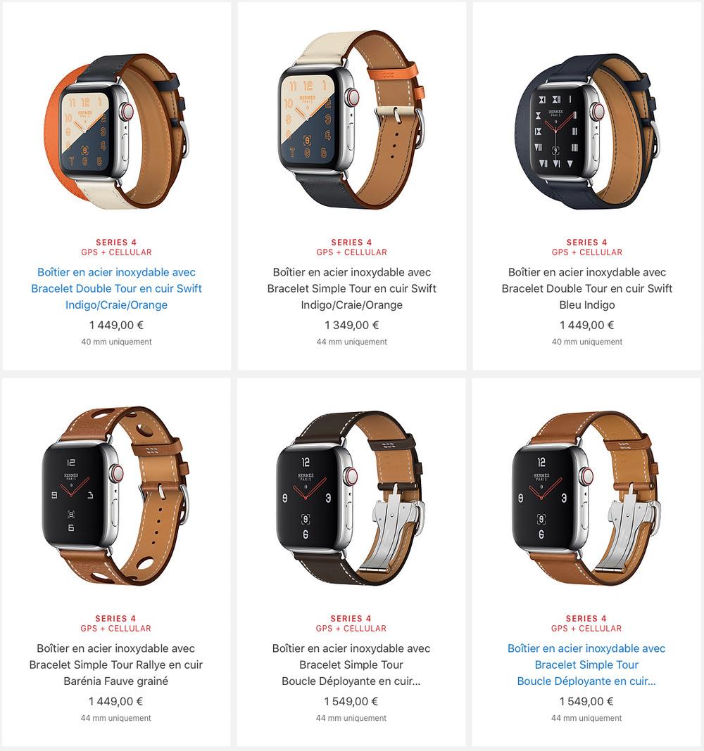 apple watch series 4 hermes prix Les différences entre l'Apple Watch Series3 et Series4