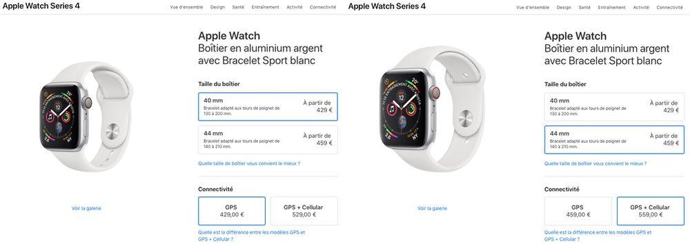 apple watch series 4 prix Les différences entre l'Apple Watch Series3 et Series4