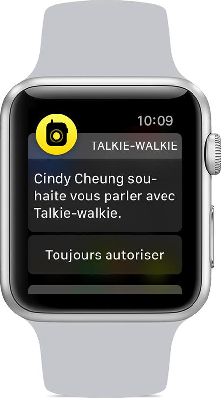 apple watch talkie walkie invitation ami Comment utiliser le Talkie walkie sur son Apple Watch