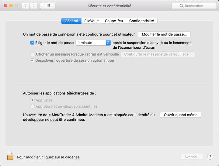 autoriser mt4 mac Comment installer MetaTrader 4 sur Mac