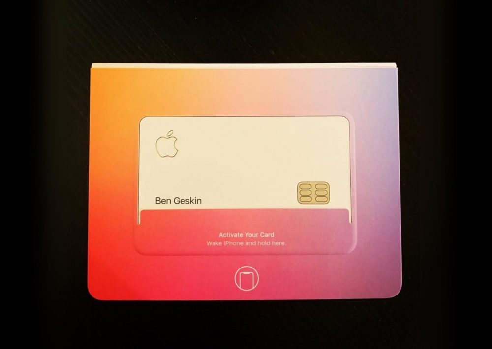 emballage apple card 1000x711 Apple cache une puce NFC en forme dune clé dans lemballage de lApple Card