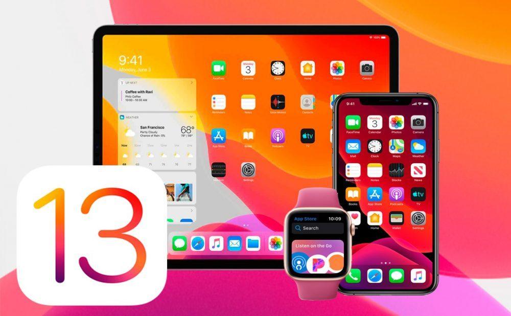 ios 13 ipados 13 watchos 6 1000x618 Apple ne propose plus au téléchargement iOS 12.4.1, iOS 13 et iOS 13.1.1