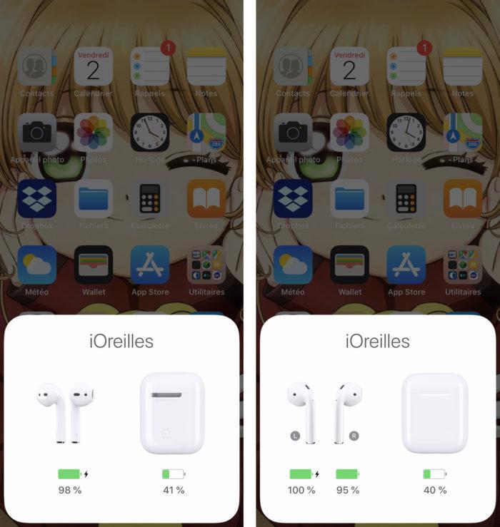 iphone affiche charge airpods e1564999842198 Comment voir le pourcentage de batterie de ses AirPods