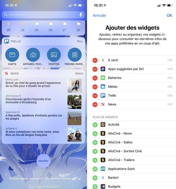 iphone widget Comment voir le pourcentage de batterie de ses AirPods