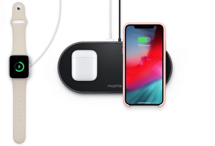mophie 3 in 1 wireless charging pad equivalent airpower Apple vend un analogue du AirPower qui peut recharger jusquà 3 appareils simultanément