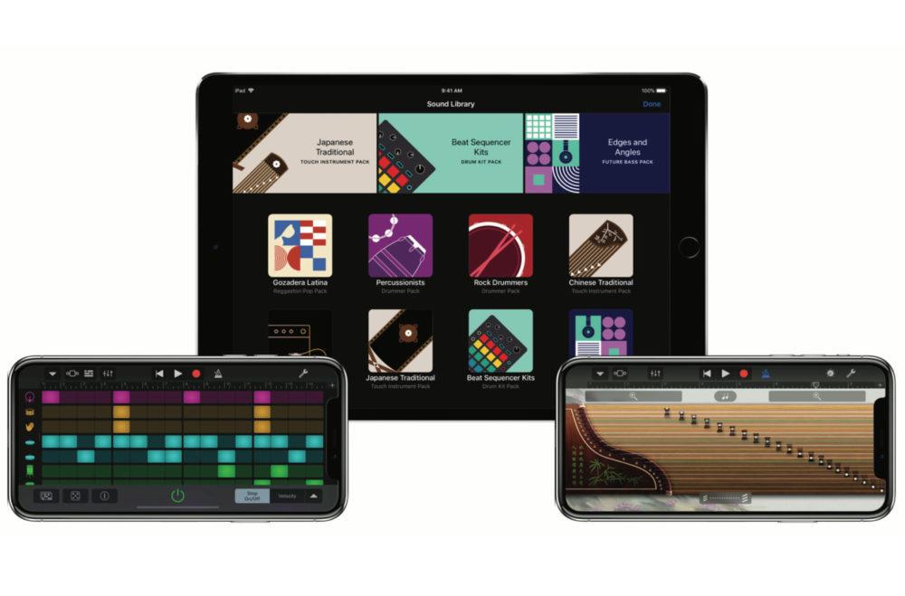 Garageband iPad iPhone 1000x659 GarageBand mis à jour : support mode nuit, prise en charge des disques externes et plus