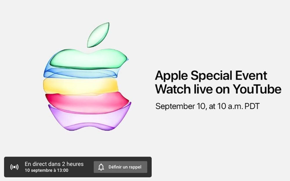 Keynote Apple iPhone 11 1000x626 iPhone 11 : Apple va diffuser pour la première fois la keynote sur YouTube en direct