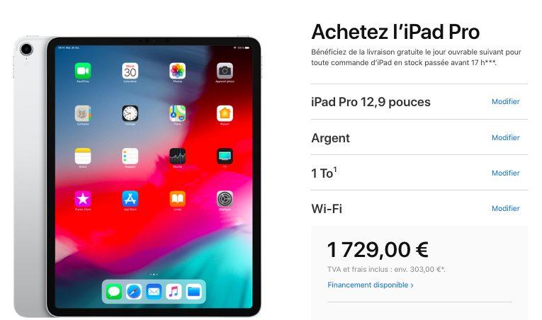 Nouveau Prix iPad Pro Apple a réduit le prix de liPad Pro avec 1 To de stockage : une réduction de 220 euros