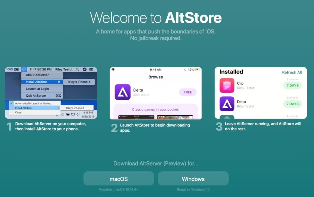 altstore Un store alternatif sans jailbreak, c'est possible via AltStore