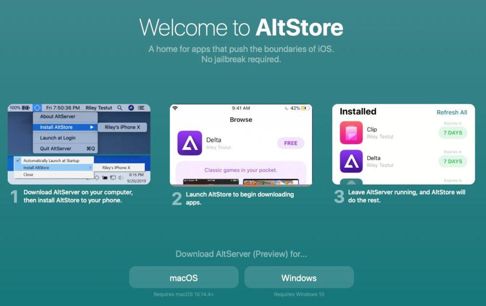 altstore Un store alternatif sans jailbreak, c'est possible via AltStore
