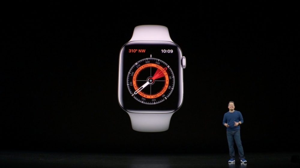 apple watch series 5 boussole LApple Watch Series 5 donne lheure en permanence !
