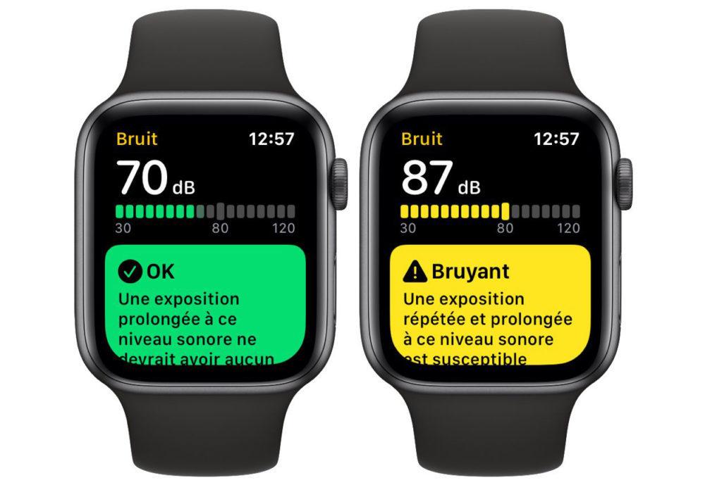 application bruit watchos 6 1000x689 Apple Watch Series 3 : lapplication Bruit sera proposée avec watchOS 6