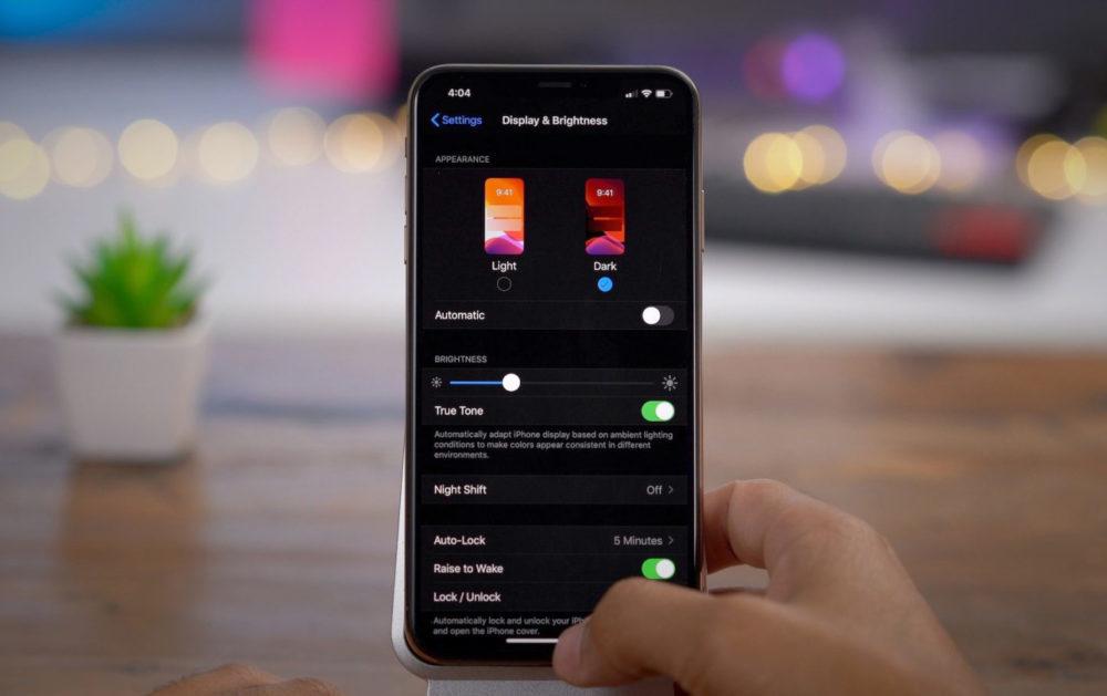 iOS 13 Dark Mode 1000x629 Une semaine après sa sortie, le taux dadoption diOS 13 est de 20%
