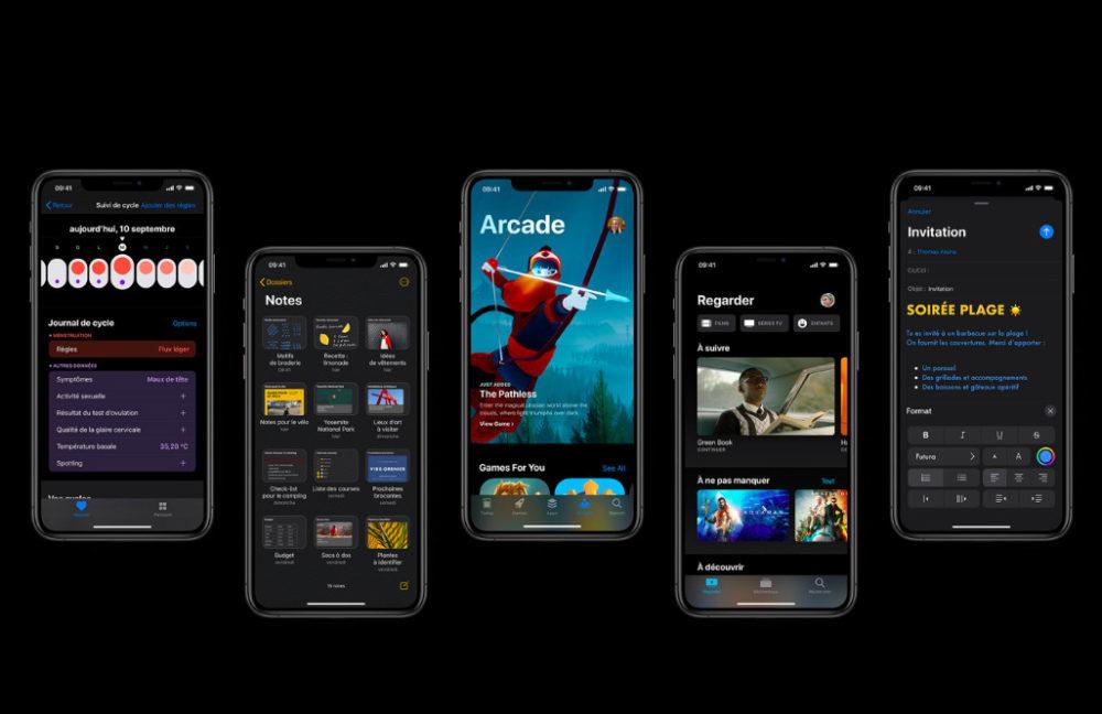 iOS 13 Mode Sombre Et Plus 1000x648 La version finale diOS 13 est disponible au téléchargement sur iPhone et iPod touch