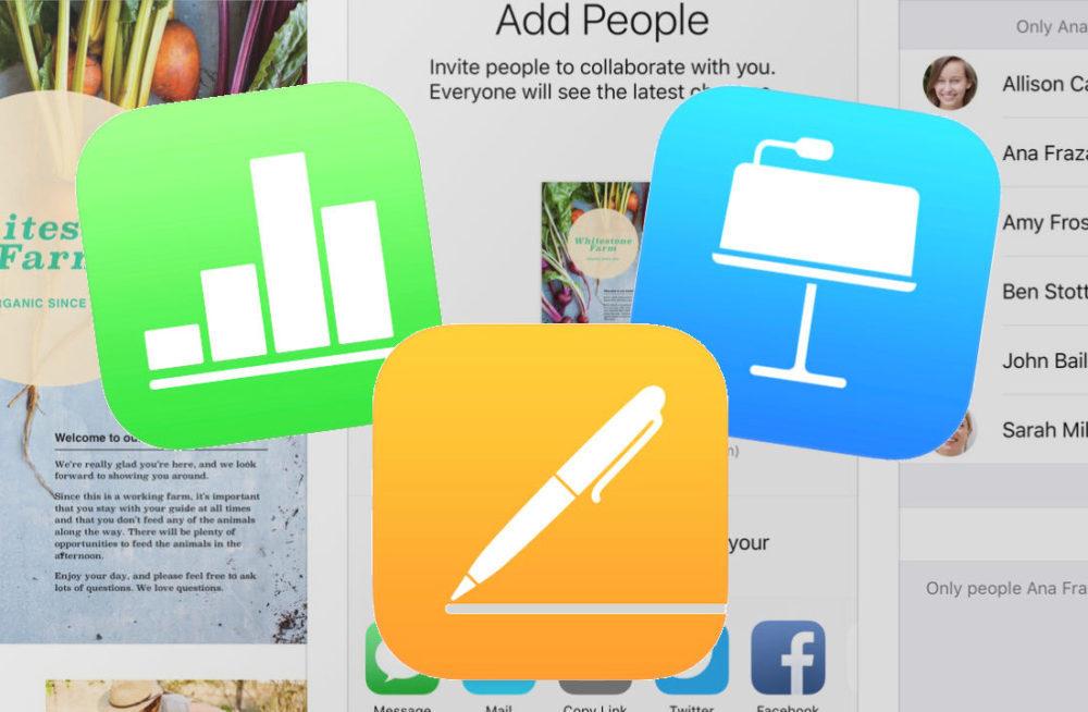 iWork iOS 1000x654 Apple met à jour sa suite iWork et iMovie sur iOS afin dajouter le support du trackpad et de la souris