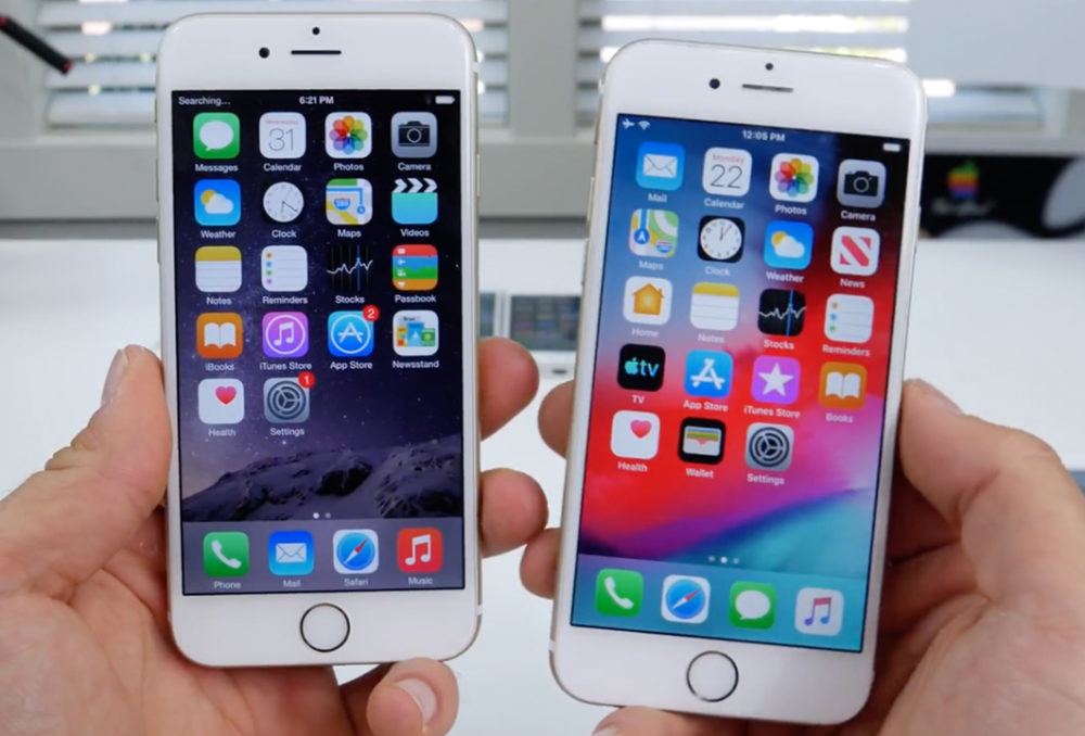 ios 12 iphone 6 1000x678 Apple publie iOS 12.4.2 pour les iPhone, iPad et iPod touch qui ne supportent pas iOS 13