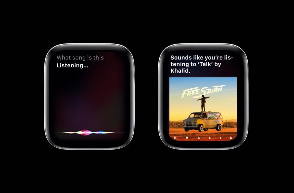 watchOS 6 Siri Shazam 1000x656 La version de watchOS 6 Golden Master est disponible