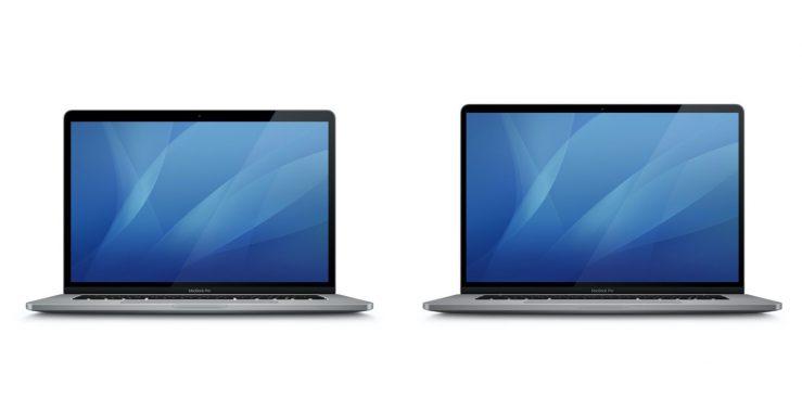 MacBook Pro 16 pouces macOS 10.15.1 Design bordures On connaît le design du MacBook Pro 16 pouces, merci à macOS 10.15.1