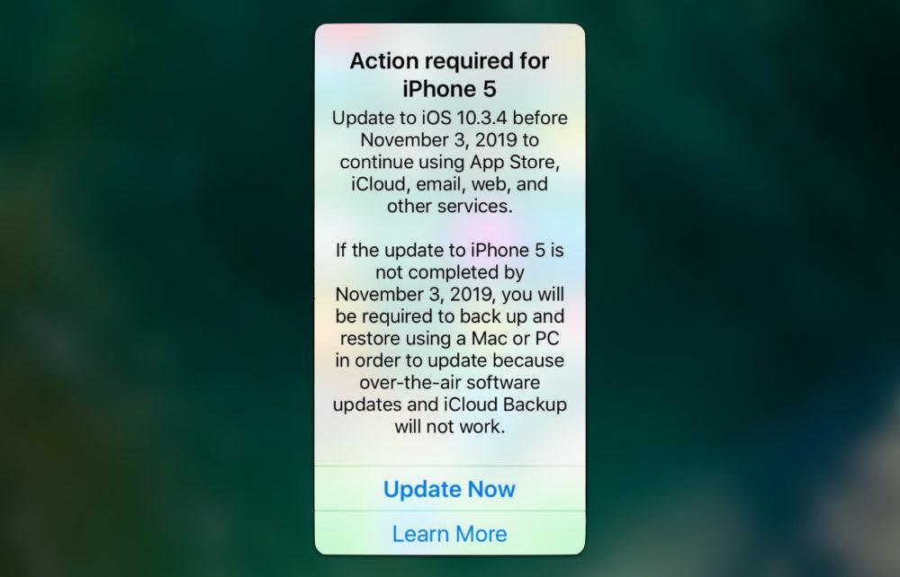 Mettez a Jour iPhone 5 Inutilisable 1000x642 Vous utilisez un iPhone 5 ? iOS 10.3.4 est requis pour quil continue de fonctionner