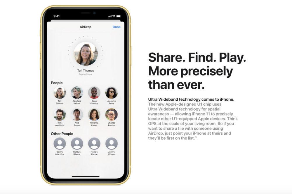 iPhone 11/11 Pro   iOS 13 : des soucis avec AirDrop en raison de lultra large bande
