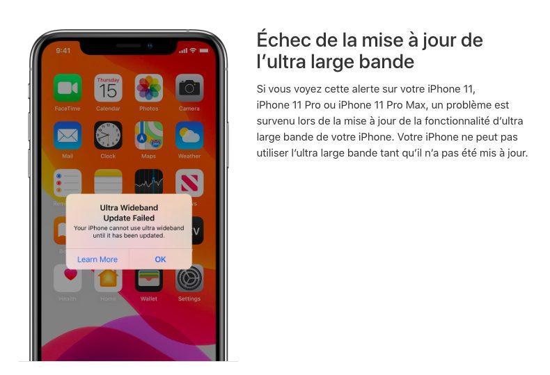 iOS 13 iPhone 11 Pro Soucis Ultra Large Bande iPhone 11/11 Pro   iOS 13 : des soucis avec AirDrop en raison de lultra large bande