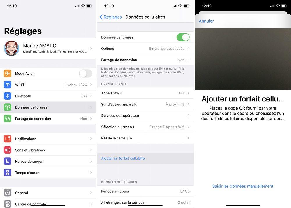 iphone ajout forfait cellulaire Comment transférer son eSIM sur son nouvel iPhone