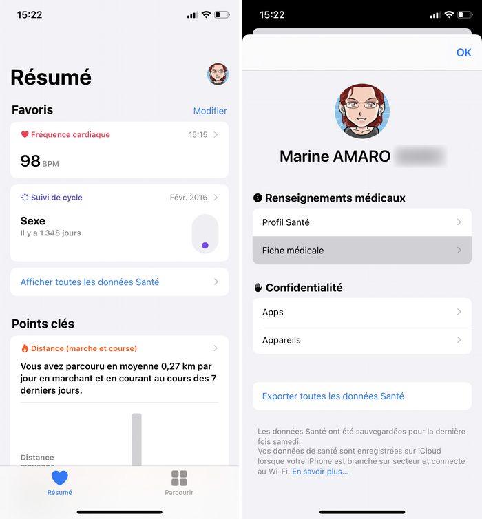 iphone sante profil Consulter la fiche médicale, en urgence, d'un iPhone verrouillé