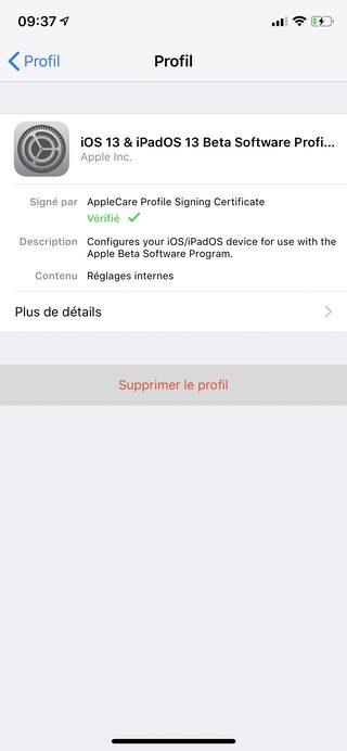 iphone supprimer profil beta public Comment désinstaller la bêta d'iOS 13 ou d'iPadOS ?