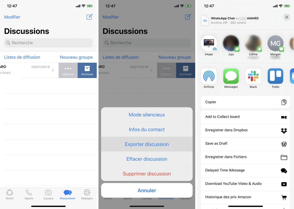 iphone whatsapp export discussion 1 Comment restaurer vos discussions WhatApp sur iPhone