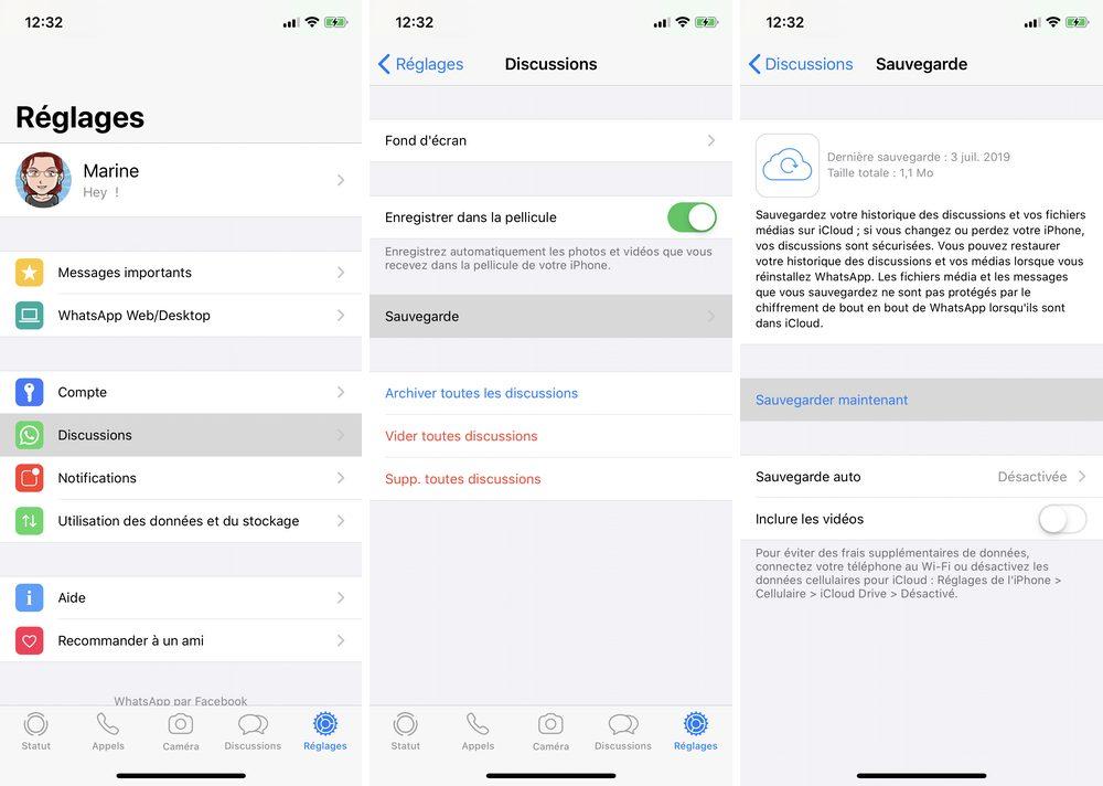 iphone whatsapp sauvagerde maintenant Comment restaurer vos discussions WhatApp sur iPhone