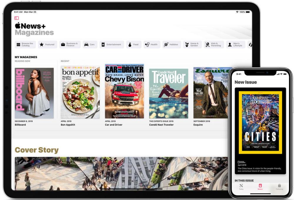 iphone xs ipad pro apple news plus 1000x680 Apple News+ est lancé au Royaume Uni et en Australie