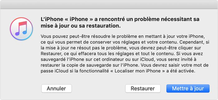 itunes restaurer iphone Comment désinstaller la bêta d'iOS 13 ou d'iPadOS ?