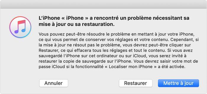itunes restaurer iphone Comment désinstaller la bêta d'iOS 13 ou d'iPadOS ?