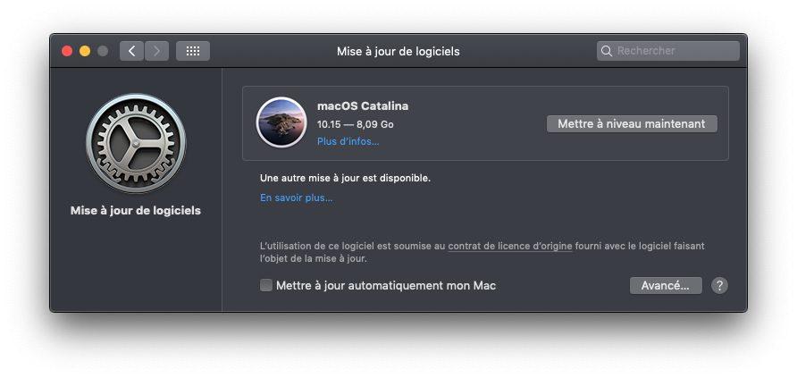 mac desactiver maj auto macOS Catalina : comment savoir si vous avez des apps 32 bits