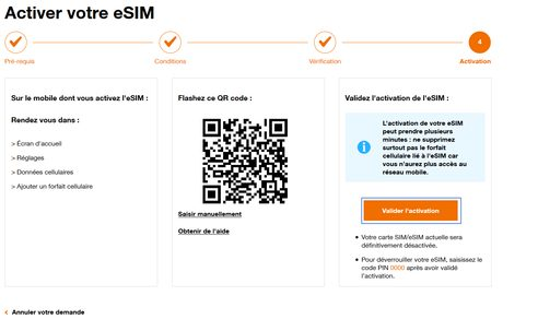 orange valider activation Comment transférer son eSIM sur son nouvel iPhone
