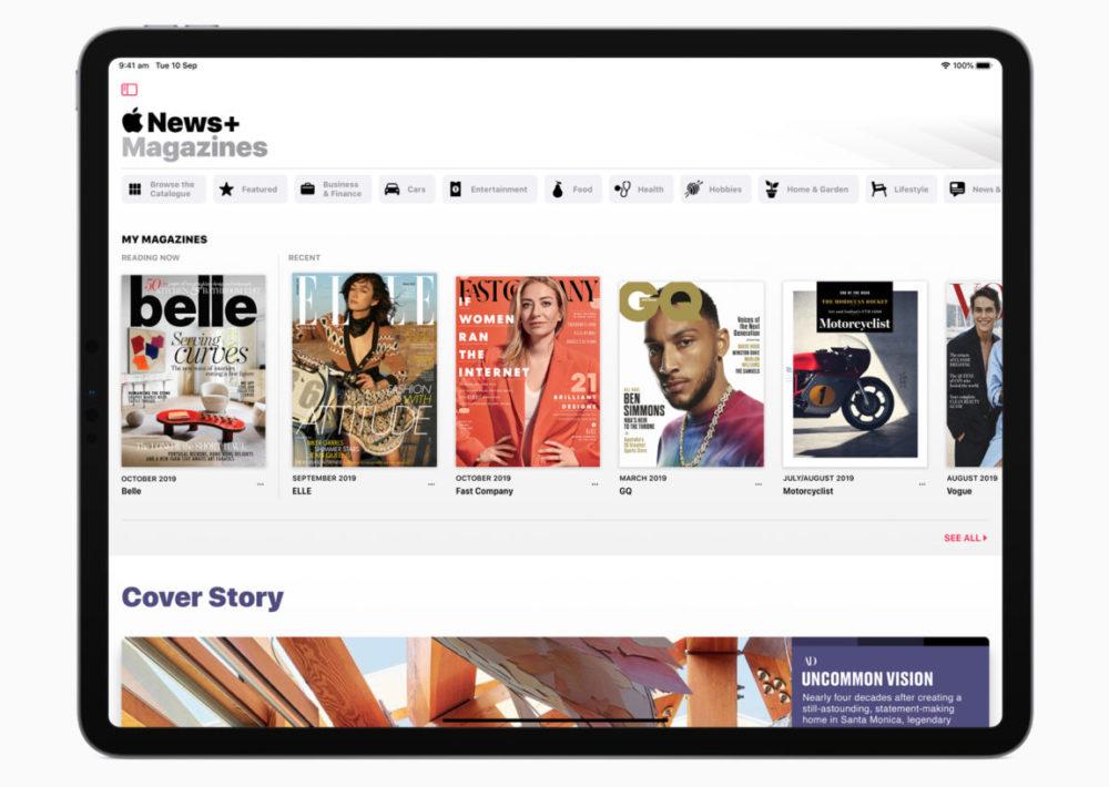 Apple News Plus iPad Apple News+ : un essai gratuit temporaire de 3 mois est offert par Apple