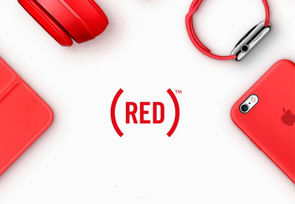Apple Red Product Apple verse 1 dollar à (RED) pour chaque achat réalisé dans ses boutiques avec Apple Pay