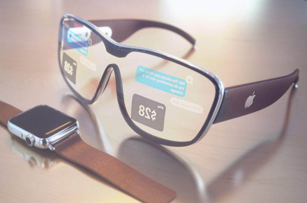 Lunettes Apple 3D 1000x662 Un capteur 3D sur les iPhone et les iPad de 2020, un casque et des lunettes AR en 2022