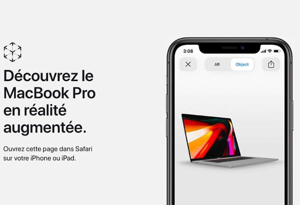 MacBook Pro 16 Pouces Realite Augmentee 1000x685 Visualisez le design du nouveau MacBook Pro 16 pouces dApple avec la réalité augmentée