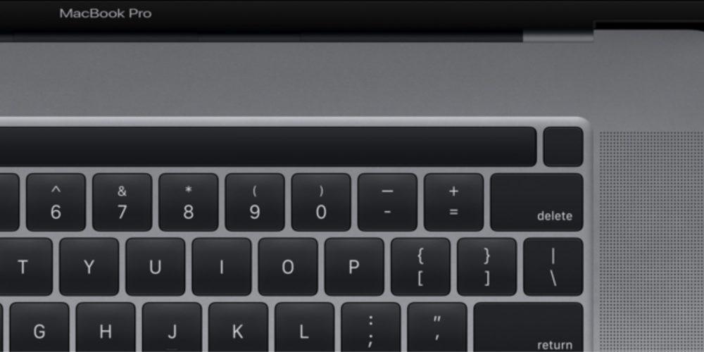 MacBook Pro 16 Pouces Touch Bar Touch ID 1000x500 MacBook Pro 16 pouces : le capteur dempreinte Touch ID sera détaché de la Touch Bar