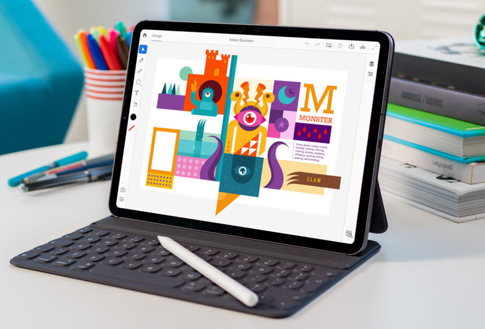 adobe illustrator pour ipad 1000x679 Lapplication Adobe Illustrator sur iPad sera disponible en 2020