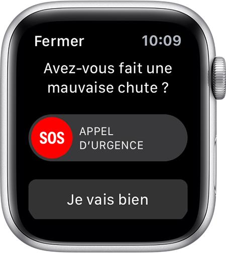apple watch alerte detection chutes L'Apple Watch et la détection des chutes
