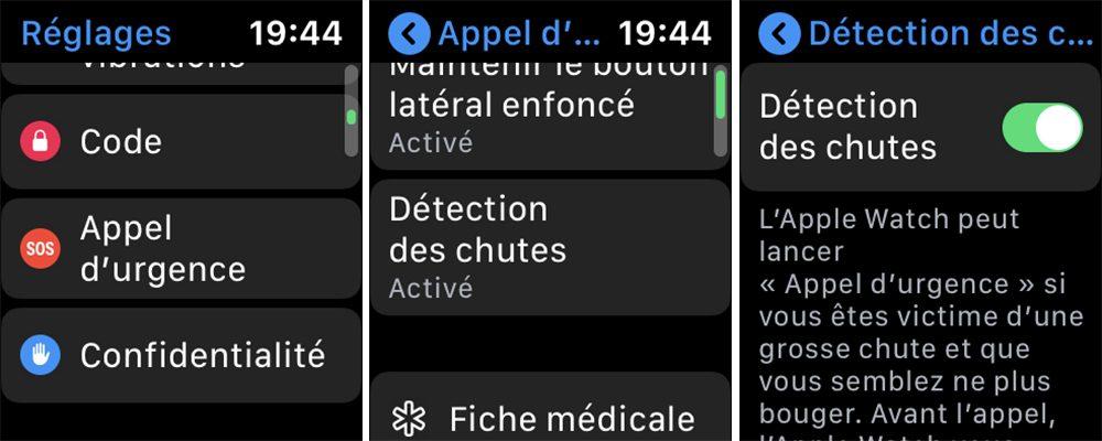 apple watch detection chutes L'Apple Watch et la détection des chutes