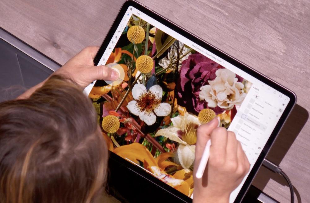 iPad Pro Photoshop 1000x657 Photoshop sur iPad : Adobe prend sa défense après les jugements des utilisateurs