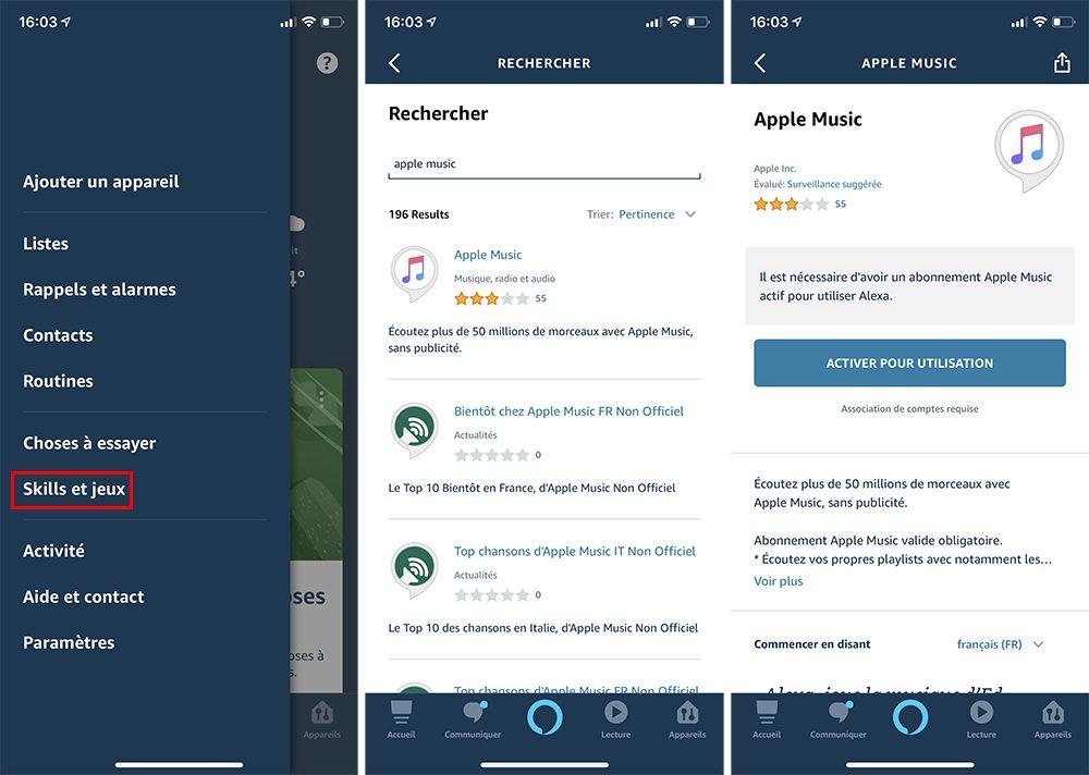 iphone alexa activer skill Comment écouter la musique d'Apple Music avec Alexa d'Amazon