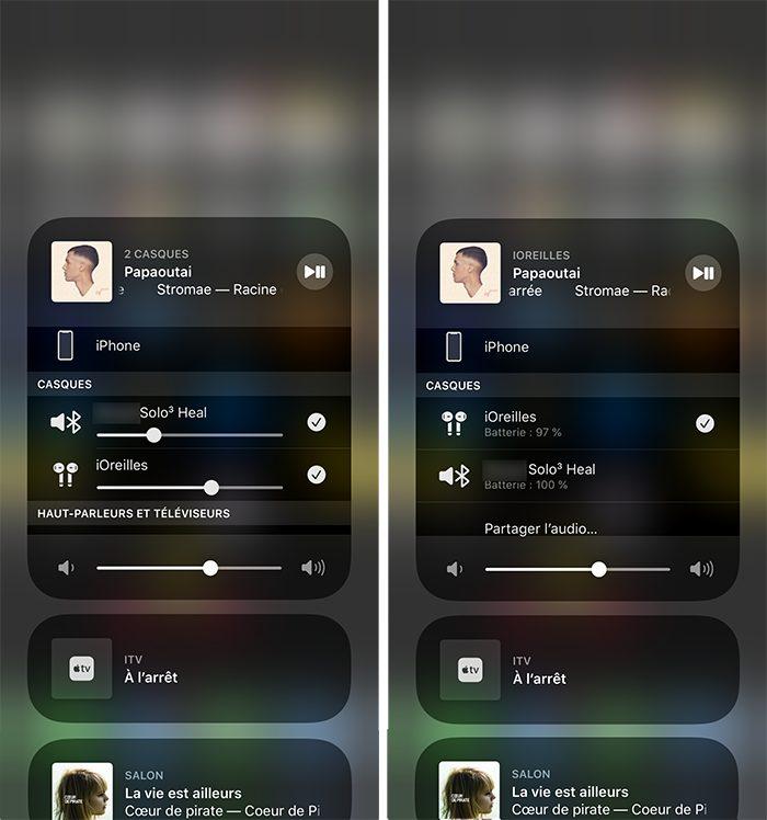 iphone desactiver partage audio Comment écouter de la musique à 2 sur un même iPhone avec le partage audio