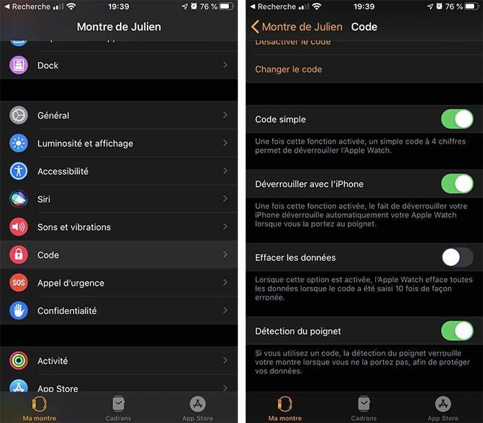 iphone detection poignet L'Apple Watch et la détection des chutes