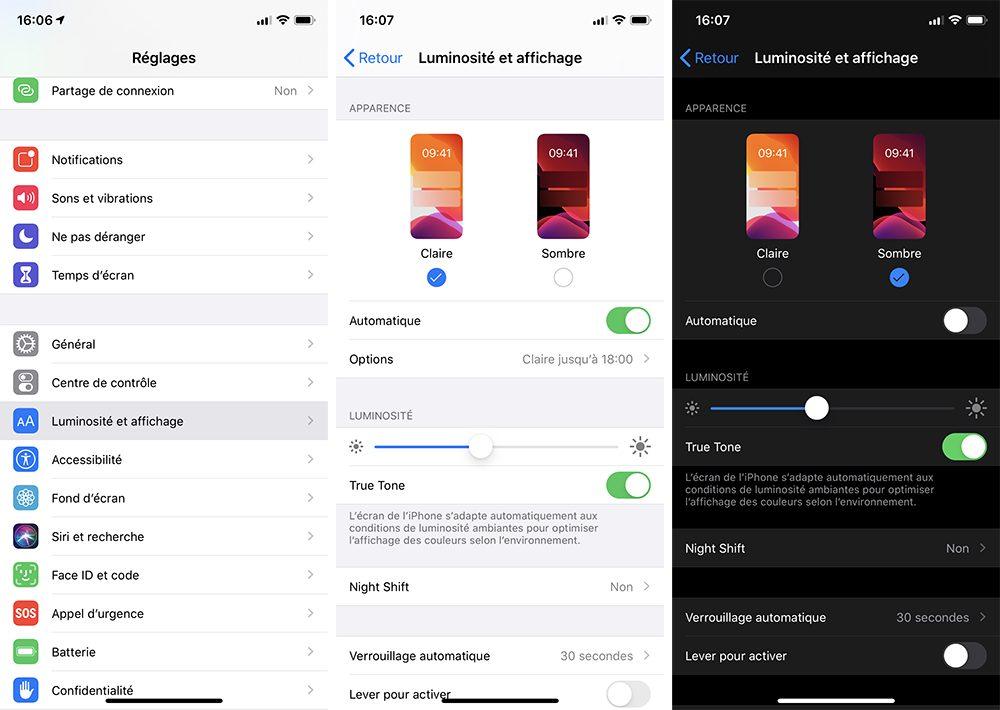 iphone mode sombre Comment utiliser le mode nuit sur iPhone ou iPad